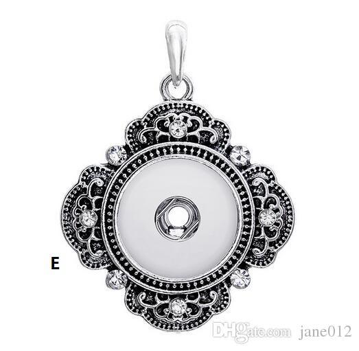 Venta al por mayor a presión botón colgante para collar muchos diseños para elegir DIY joyería Noosa colgante sin cadena para la venta envío gratis