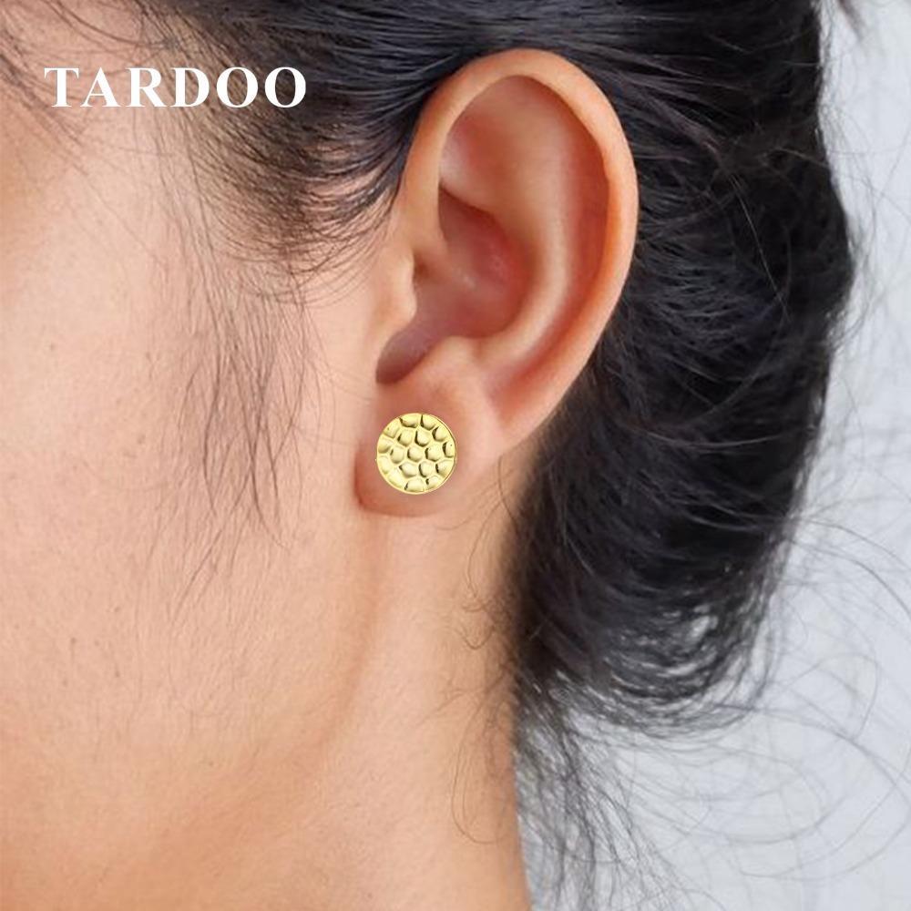 Tardoo 925 Brincos De Prata Esterlina Design Simples Geométrica Rodada Aniversário Cor de Ouro Brinco Para As Mulheres Jóias Moda Y18110110