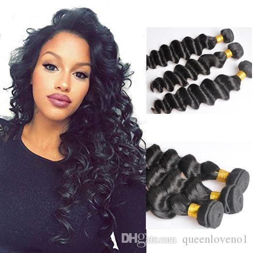 Peruvian More Wavy Loose Deep Curly Unprocessed Human Virgin Hair Weaves Remy Human Hair Extensions Dyeable 3bundles/lot