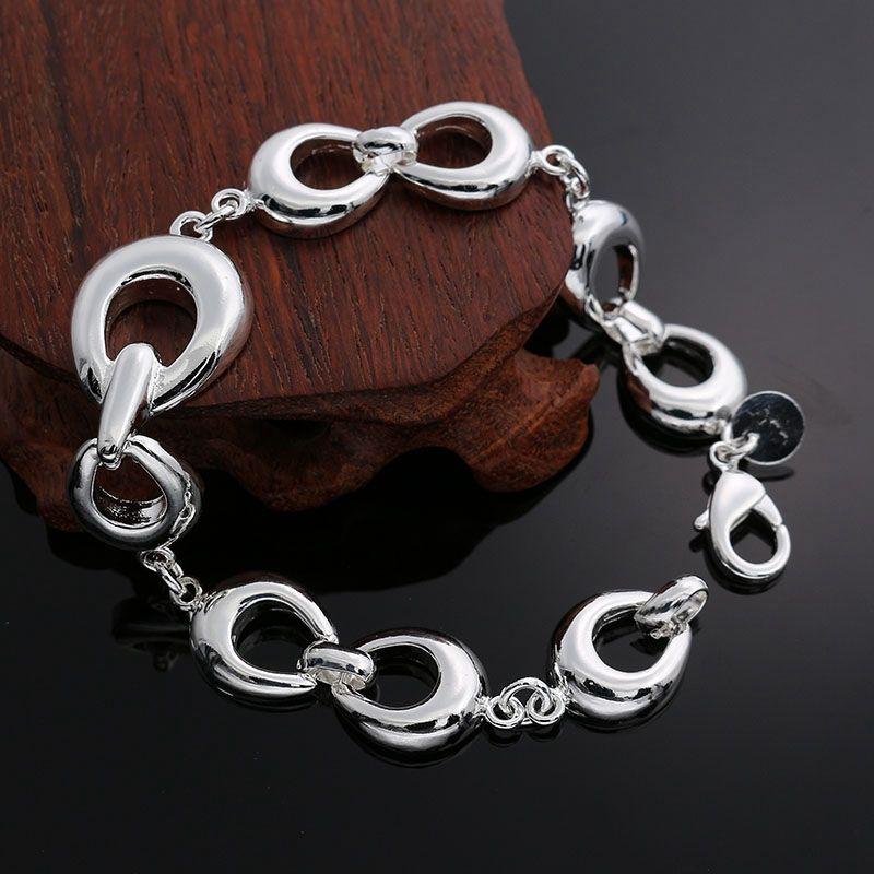 Fine 925 pulseira de prata esterlina, 2018 novo estilo 925 link de prata Itália a pulseira de ferradura para mulheres homens moda jóias quente vender sh292