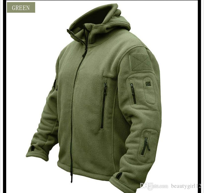 Fleece Jacket Military Tactical Man Thermal Polar Hooded Outerwear Coat Army Clothes
