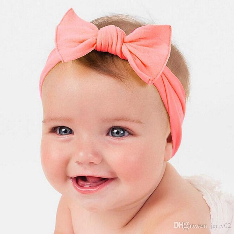 1 قطع الوليد جميل القوس عقال القطن bowknot هيرباند العمامة عقدة قبعات لل الوليد الاطفال اكسسوارات للشعر
