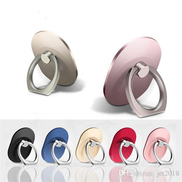 360 Degree Mobile Phone Finger Ring Holder Stand bracket 360 Degree Rotating Cellphone Holder for iphone 6 7 8 9 X samsung tablet pc