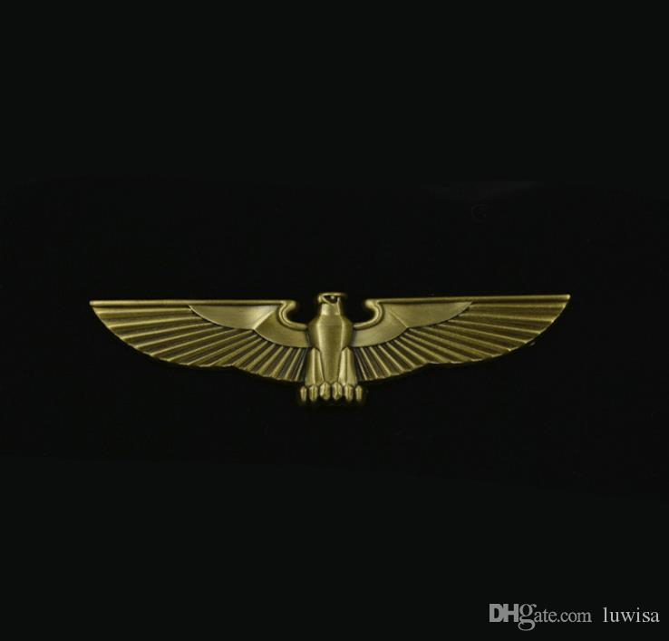 Luxury Motorcycle Club Badge Eagle Wing Biker Brooches For clothes Hat Bag Metal Collar Pin Brooch With Gift Box