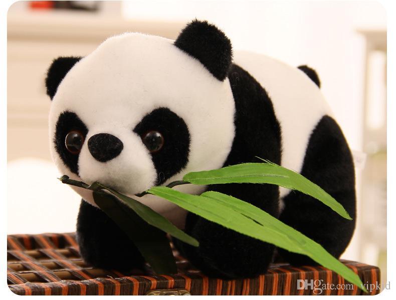 20 CM Moda linda muñecos de peluche lindo del animal Simulación de hojas de bambú panda lindo muñeco de peluche Juguetes