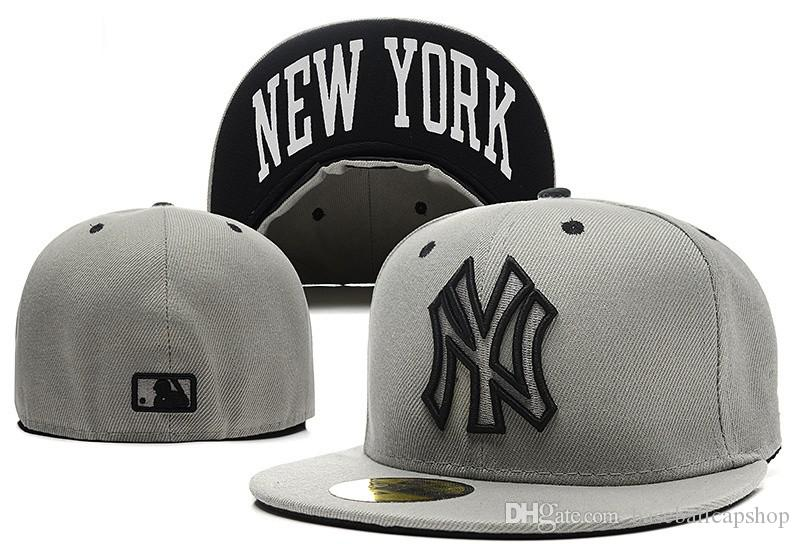 Top Quality Men's New York NY Baseball Sport Team Hats Full Closed Design Fan's American Sports Fitted Caps With Letter Under Brim