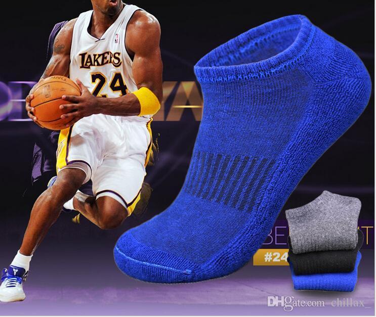 chaussettes courtes basket-ball sport invisible serviette chaussettes cheville éponge coton bas hommes Bonding chaussettes bateau de pieds gros