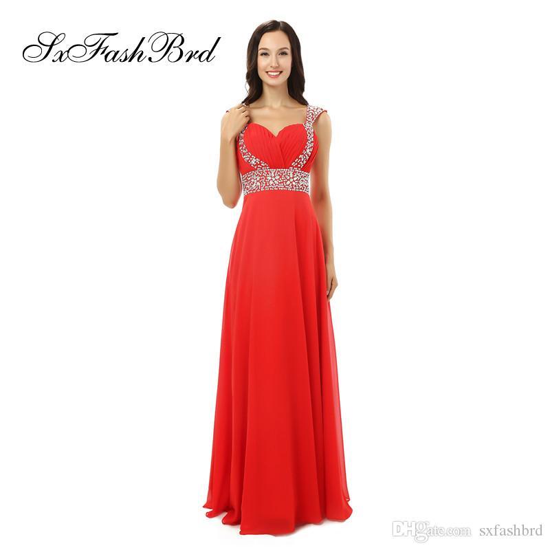 Moda elegante volante cariño mangas con rebordear una línea de gasa larga fiesta vestidos de noche formales para las mujeres vestidos de baile