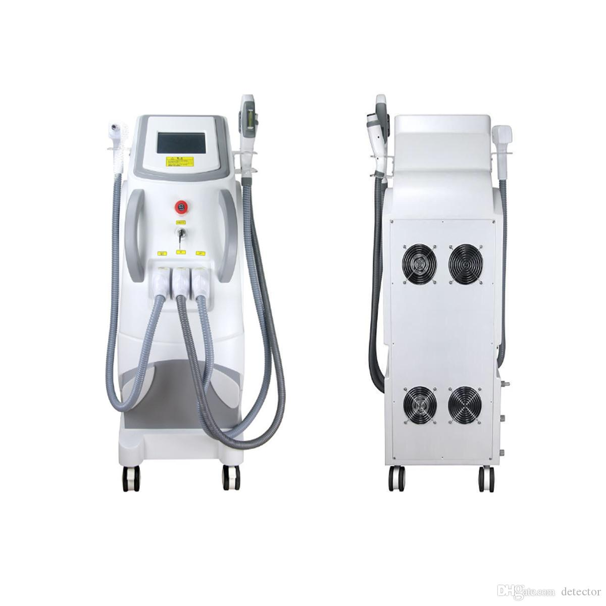 Potente láser 3 en 1 OPT SHR + ND YAG + RF Elight Skin Rejuvenation Laser Tattoo Hair Removal Machine