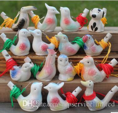 Forma Pássaro Apito Crianças Ceramic água Artes Ocarina e ofícios Kid presente para muitos estilos
