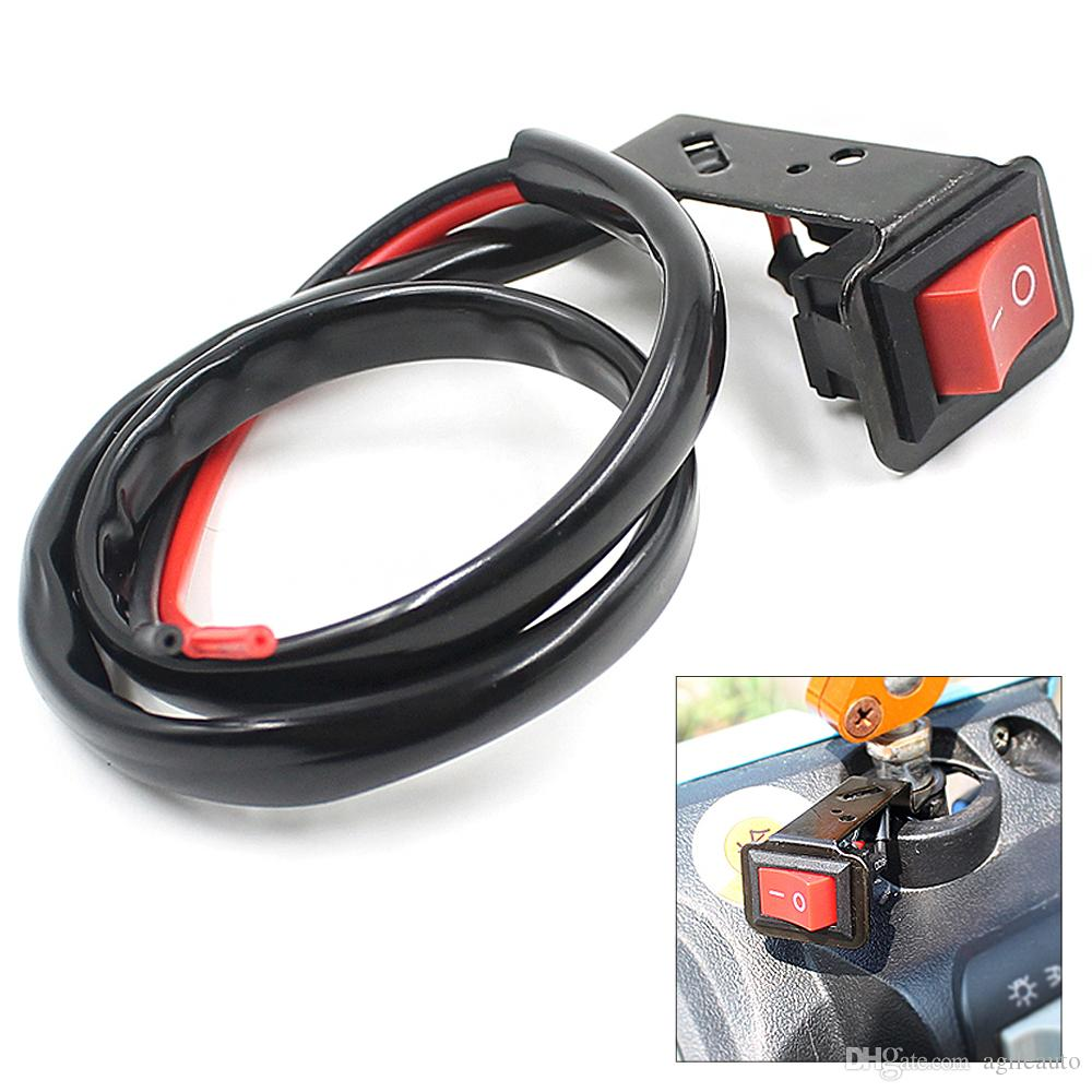Universal Handlebar Switch ON-OFF Button Headlight No Lock Switch for Motor