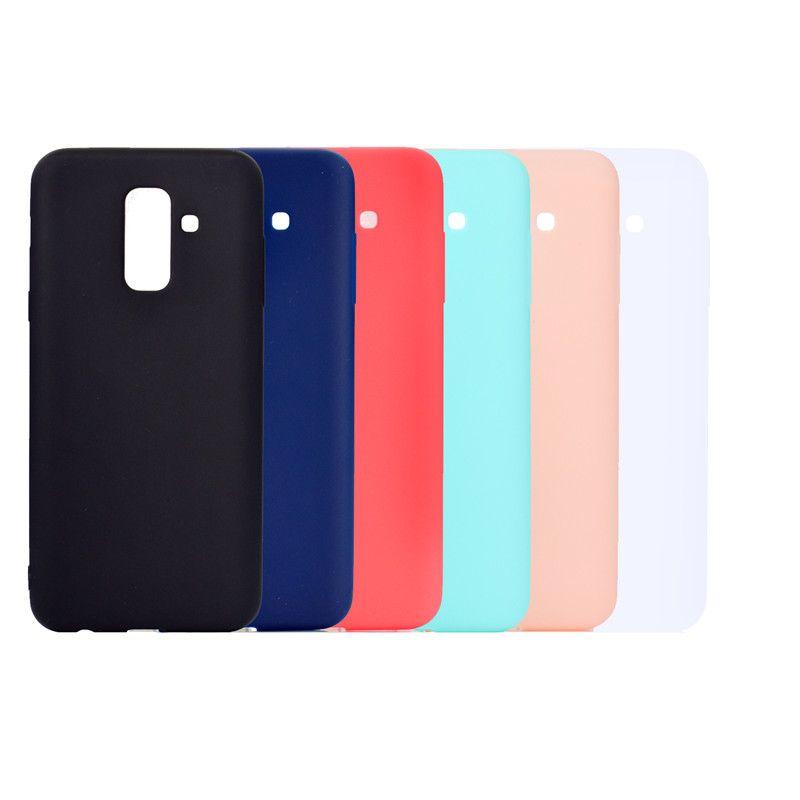 Şeker Renk Kapak Için Samsung Galaxy A6 Artı 2018 Kılıf Yumuşak TPU Ultrathin Tasarımcı Mobie Telefonu Kılıfları Capinha Samsung A6 Artı