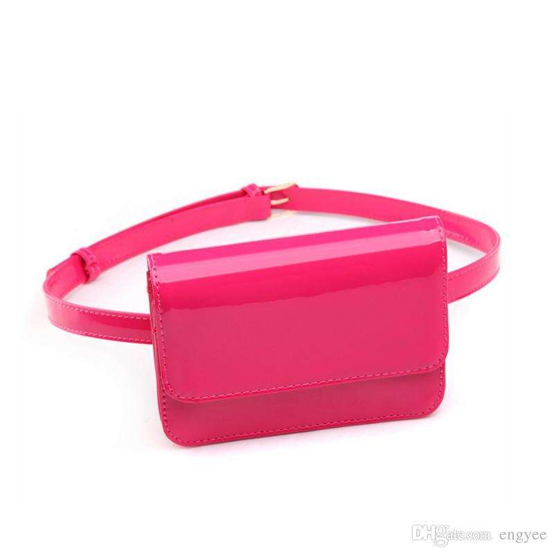 Belt Bag Leather Bright Waist Pack Women Travel Wallet Female Mini Bag Waist Phone Case Money Belt Women Waist Pack