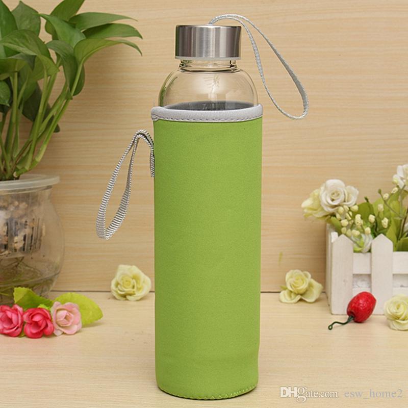 Koruyucu çanta ve bireysel kutu ile paslanmaz çelik demlik ile 550ml su şişesi yüksek borosilikat cam