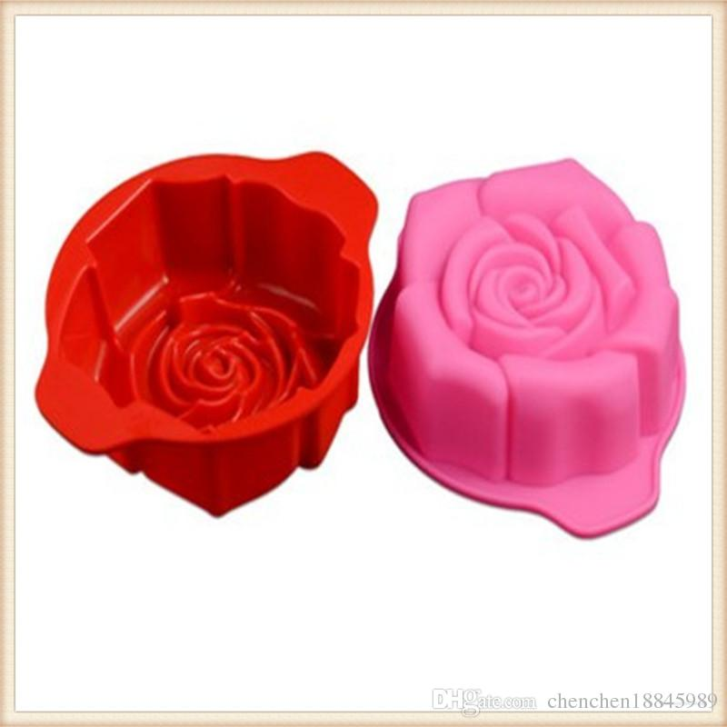 single hole rose flower mousse Cake Mold Silicone Soap Mold For Handmade Soap Candle Candy bakeware baking moulds kitchen tools ice molds