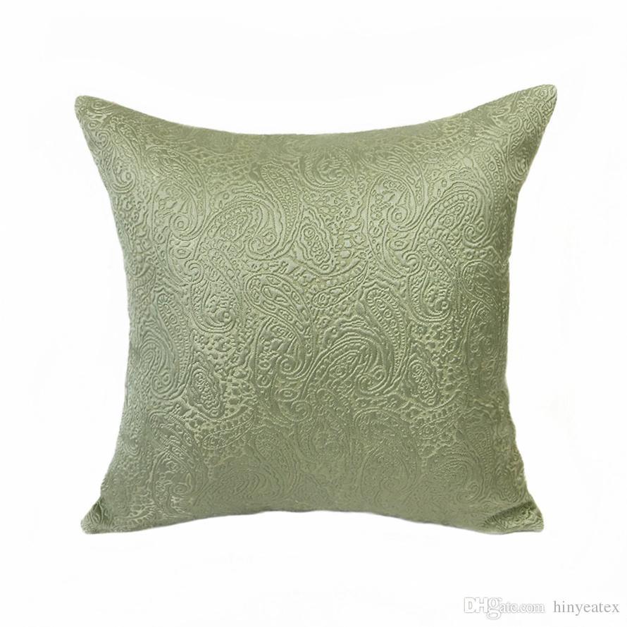 Astounding Luxurious Vintage Paisley Interior Light Green Home Decorative Pillow Case 45X45Cm Jacquard Woven Sofa Chair Home Living Cushion Cover Patio Furniture Machost Co Dining Chair Design Ideas Machostcouk