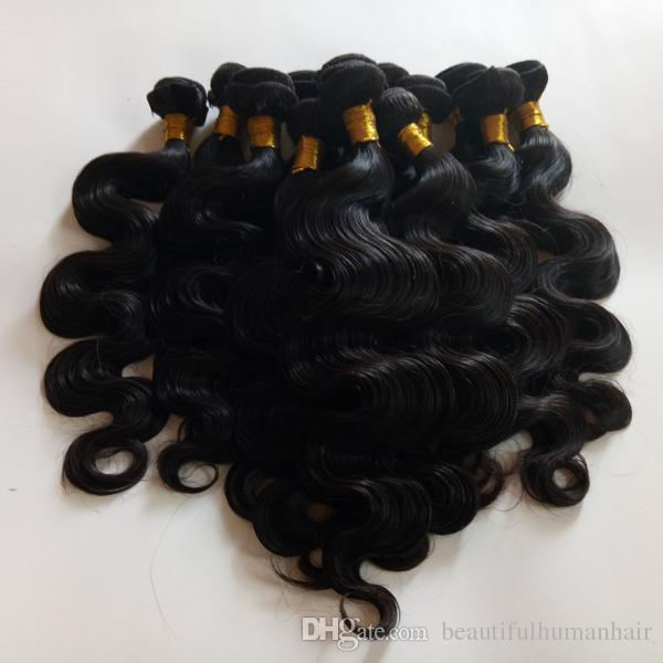Full cuticle aligned Brazilian virgin human Hair weft body wave Unprocessed European Indian remy hair extensions no tangle and no shedding
