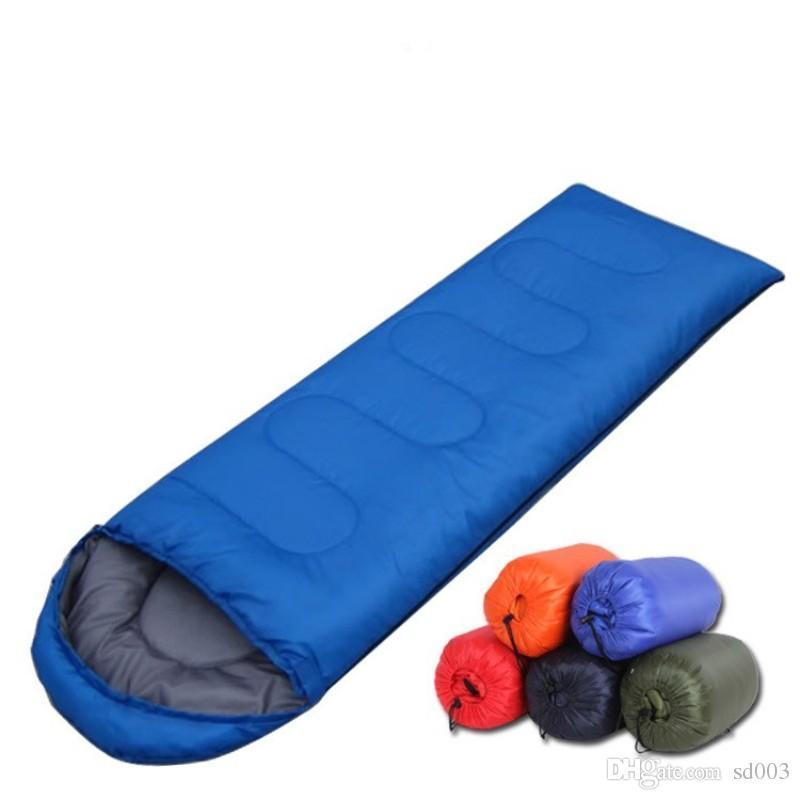 مع غطاء كيس النوم الدفء تصميم حزام مطاط مرن في الهواء الطلق بطانية أكياس النوم قابلة للطي للسفر التخييم الرايات 30sy ZZ