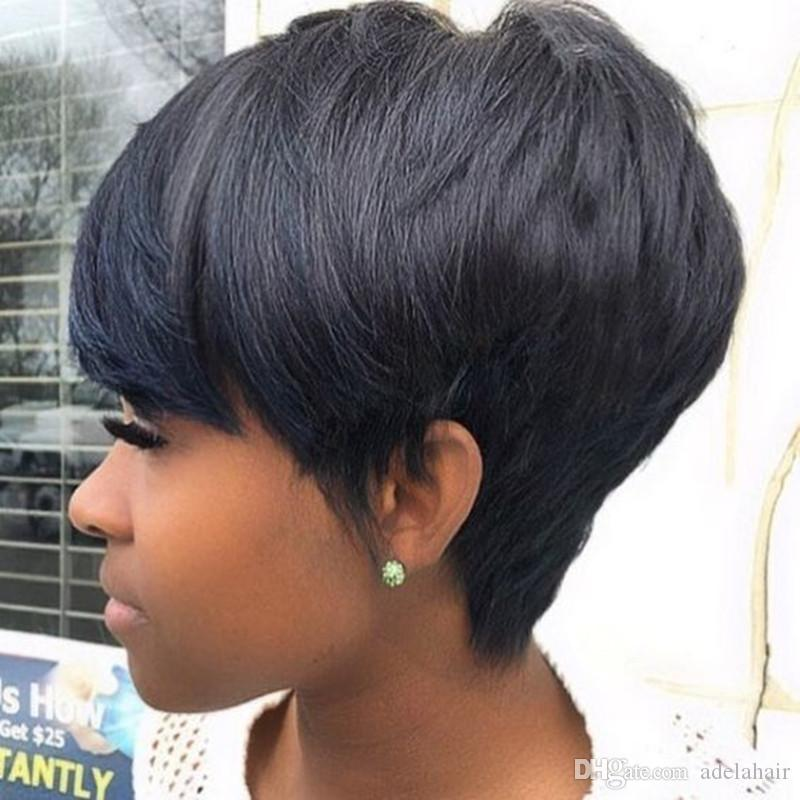 Brazilian Human Hair Short Bob Natural Hair Style Cuts 7a Full Lace Wig With Baby Hair Lace Front Wig Glueless For Black Women Cheap Afro Wigs Hair Wig Online From Adelahair 19 74