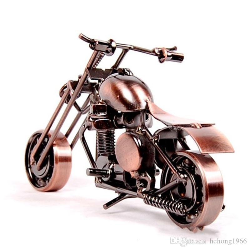 Motorcycle Shaepe Ornament Hand Mede Metal Iron Art Craft For Home Living Room Decoration Supplies Kids Gift 10 5lc BB