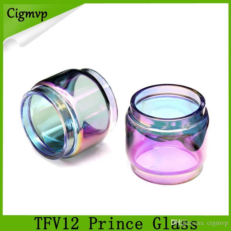 TFV12 prens cam gökkuşağı 8 ml Genişletilmiş Ampul Yağ Boy Pyrex TFV12 Prens tankı atomizer için Yedek Cam Tüp DHL Ücretsiz Kargo