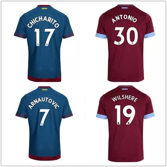 save off 38e7d 07938 2018 2018 2019 West Ham United Jersey Men Soccer 17 Javier Hernandez 17  Chicharito 10 Lanzini 16 Noble Football Shirt Kits Uniform Red Blue From ...