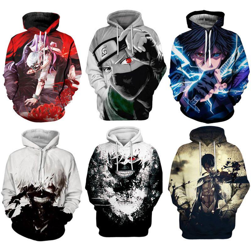 sweat à capuche hoodies naruto à capuche anime streetwear veste hommes sweat à capuche crewneck femmes tops mens jumpers sweat-shirt 3d Couples Pullover hommes