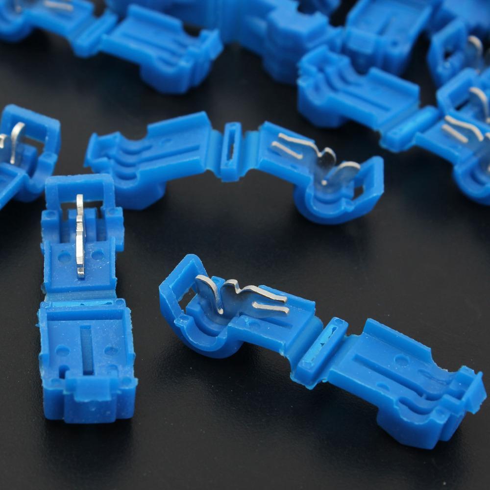 Nouvelle Haute Qualité L1 Bleu T-Attache rapide COSSE Connecteurs de fil pratique pour 2.5-4.0mm fil 16-14AWG