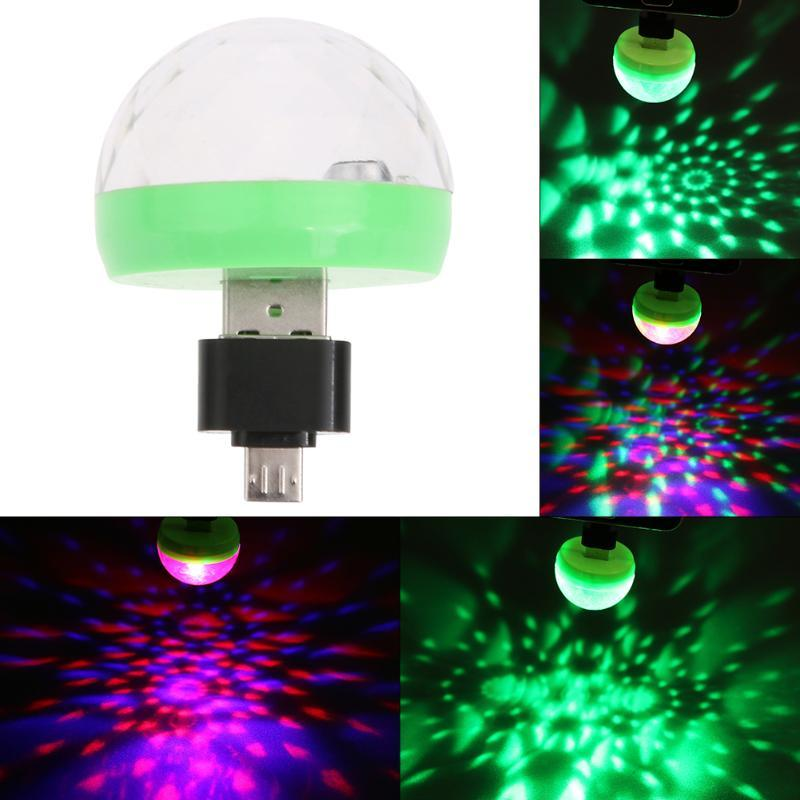 Mini USB Disco Light Crystal Magic Ball Portable Stage Home Party Luce colorata Karaoke LED Decorazioni Party Effect Light