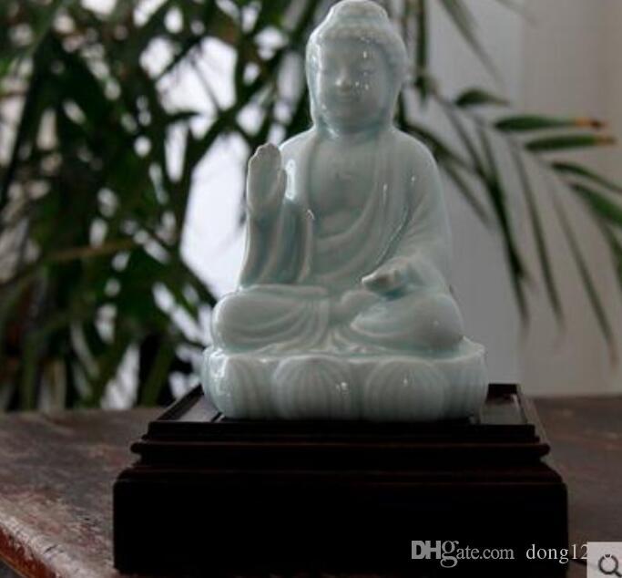 Ceramica orientale zen buddha statua di buddha figurine home decor artigianato decorazione della stanza ornamento di ceramica figurine di porcellana regalo