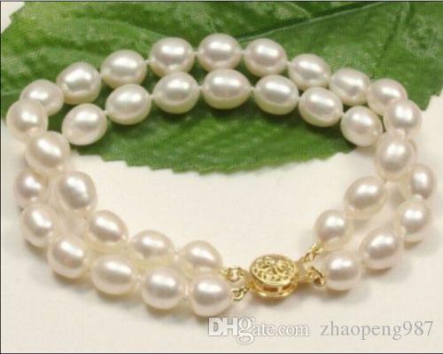"новый горячий 11-12 мм south sea White Pearl ожерелье браслет 14 K 7.5-8 """