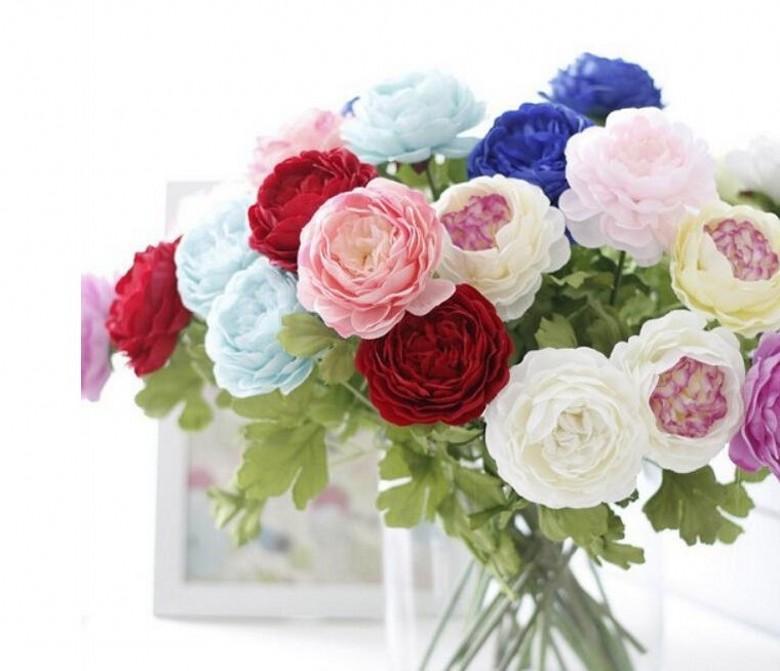 Flores de seda para la boda flor artificial ramo de boda rosas dalias otoño vívida hoja falsa flor de la boda ramos de novia decoración