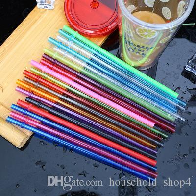 22 سنتيمتر 9 بوصة القش البلاستيك الملونة يصلح للمشروبات العصائر ميكي الشاي المتاح أنابيب شفط pp القش tubularis