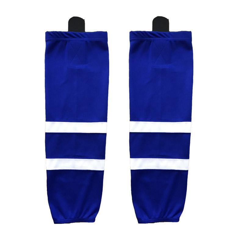 2016 100% poliéster Equipo de hockey sobre hielo Calcetines personalizada Equipo de deporte de apoyo pueden encargo como su / tamaño / color de calcetines