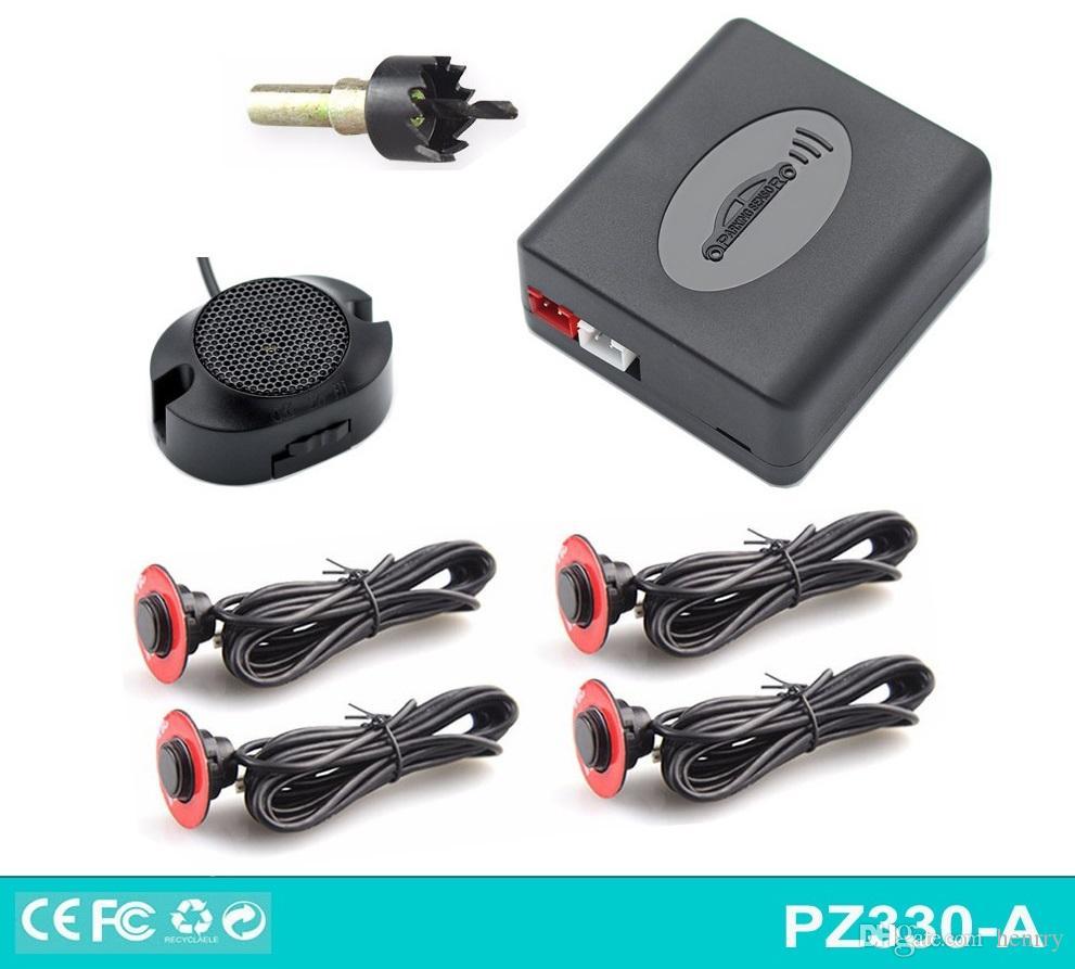 Sensore 16.5MM originale Mini sensore di parcheggio semplice con interruttore per retromarcia a quattro sensori Trapano a colori multipli 16mm DC 12V PZ200-XK16 PZ330A