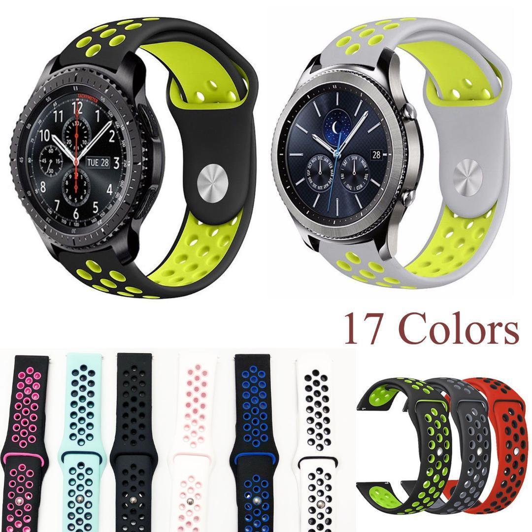 22mm Silicone Sport Band pour Samsung Gear S3 Bracelet Respirant Bracelet pour Gear S3 Classic Frontier Bracelets