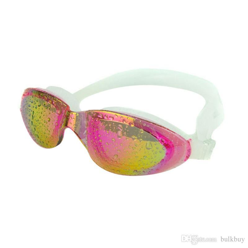 النساء الرجال قابل للتعديل الكبار قابلة لإعادة الاستخدام ومكافحة الضباب فوق البنفسجية السباحة نظارات نظارات السباحة