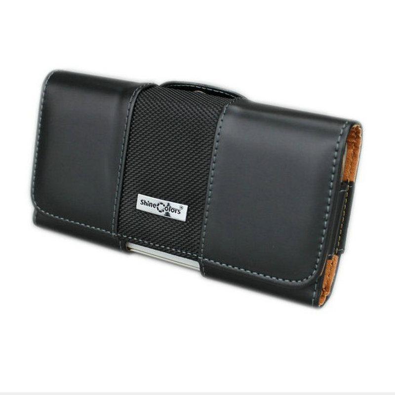 Estuche de cuero horizontal de lujo para Iphone X Estuche portátil con funda con clip para cinturón para Iphone 8/7 / 6s 4 .7 pulgada