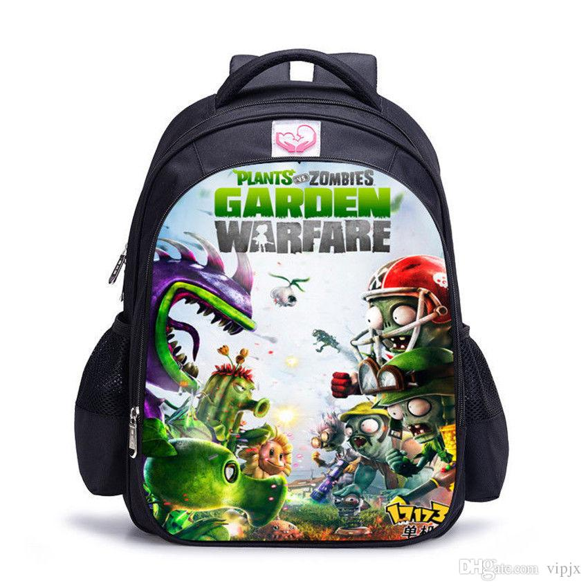 نباتات أطفال جديدة VS Zombies Backpack حقيبة مدرسية حقيبة حقيبة الكتف حقيبة الظهر هدية NN
