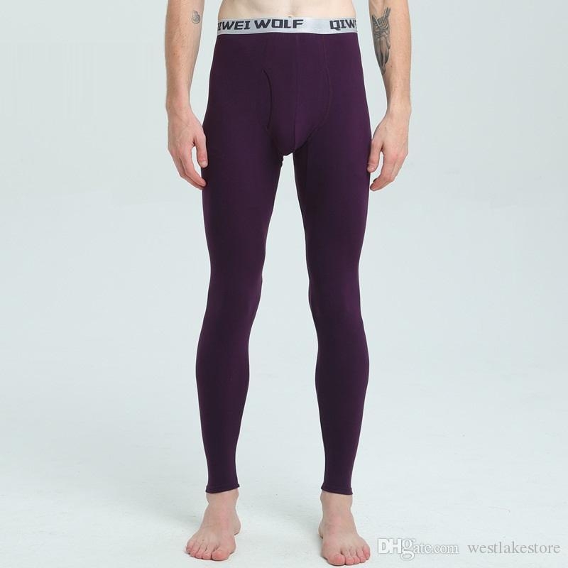 новые осень и зима мужчины термобелье брюки тонкие обычно плотно длинные Джонс из модальных