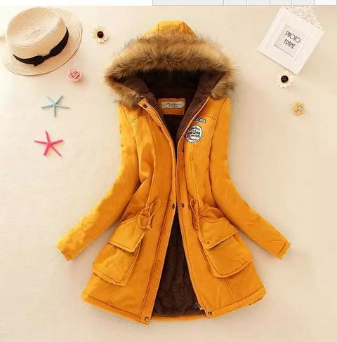 Пальто 2017 женская куртка пальто зимнее с капюшоном длинная куртка плюс размер снег носить пальто большой мех утолщение верхняя одежда 8860 S18101102