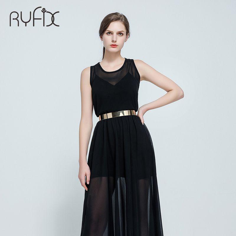 Women Punk Full Metal Mirror skinny Waist Belt 2018 Metallic Gold Plate 3cm Wide Chains Lady ceinture sashes for dresses BL02-2