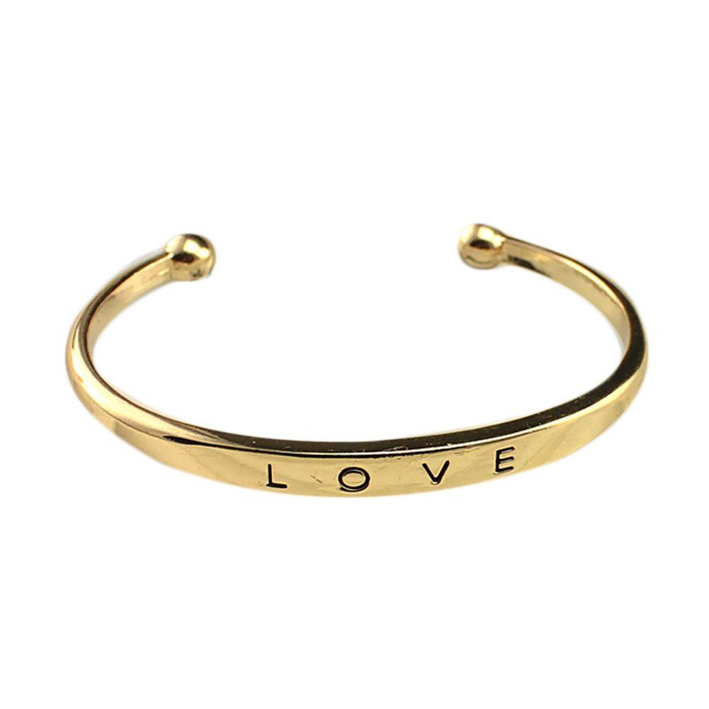 Fashion Style Women Men/'s Gift Hand Love Letter Cuff Bangle Bracelet Jewelry