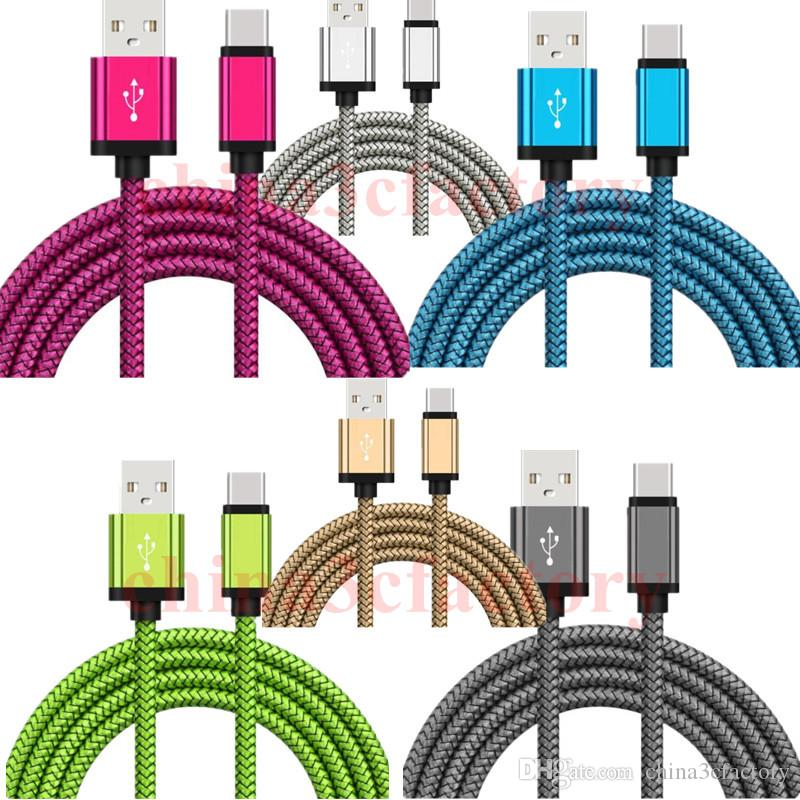 Fast Charger Micro USB Cable Type C Cable Braided USB Cord for Smart Phone Universal 2A Quick Charge Cord for Samsung charger