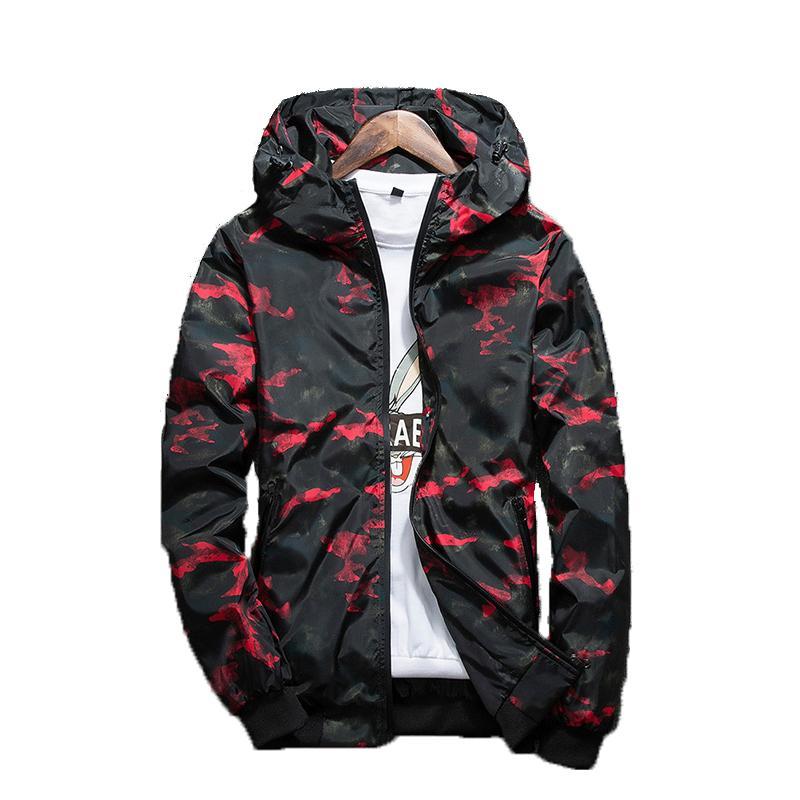 Bombardero Coats Casual Male primavera Moda camuflaje prendas de vestir exteriores de los hombres de las chaquetas para hombre Ropa de la marca J6T404