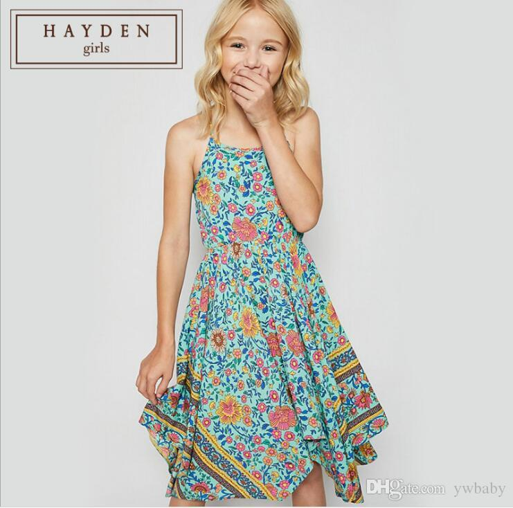 wholesale dealer order online 2019 best 2019 Bohemian Girl Dresses Teenager Printed Floral Dress Junior Fashion  Singlet Summer Dress Children Kids 2019 Clothing From Ywbaby, $85.87 | ...