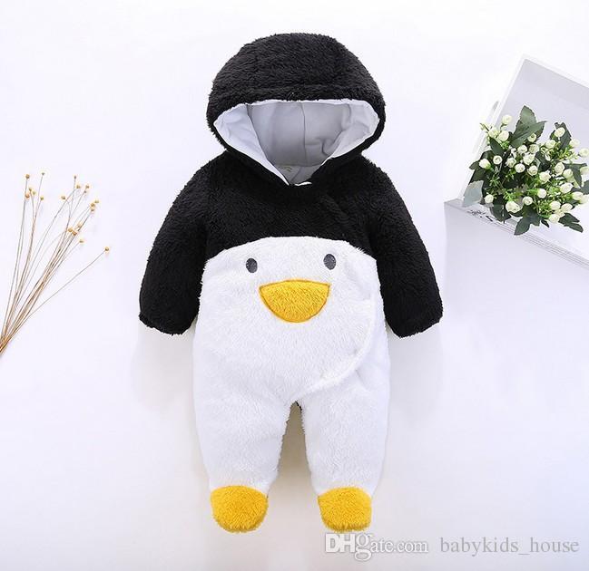 e04c165270d8 Compre Nuevo Otoño Invierno Ropa Para Bebés Recién Nacido Mono Infantil De  Algodón Mono Grueso Bebé Cálido Mamelucos Pingüino Estilo Animal A $20.83  ...