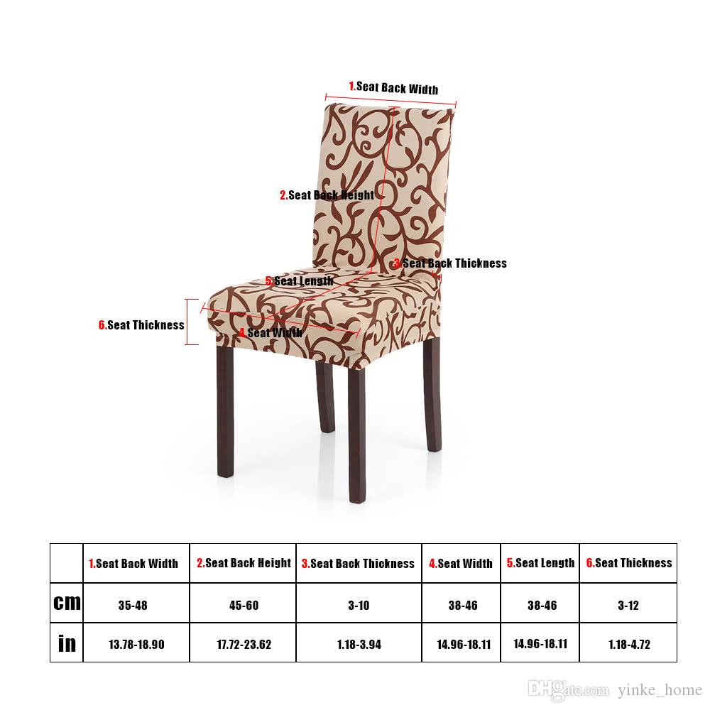Fine Spandex Stretch Chair Covers Elastic Floral Printing Washable Chair Seat Cover Slipcovers Soft Silk For Dining Room Wedding Banquet Party Dining Room Creativecarmelina Interior Chair Design Creativecarmelinacom
