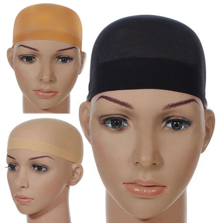 2pcs cheveux Mesh perruque Cap Nets perruque de cheveux Liner Hairnet Snood Glueless Dôme Cap perruque élastique extensible cheveux net