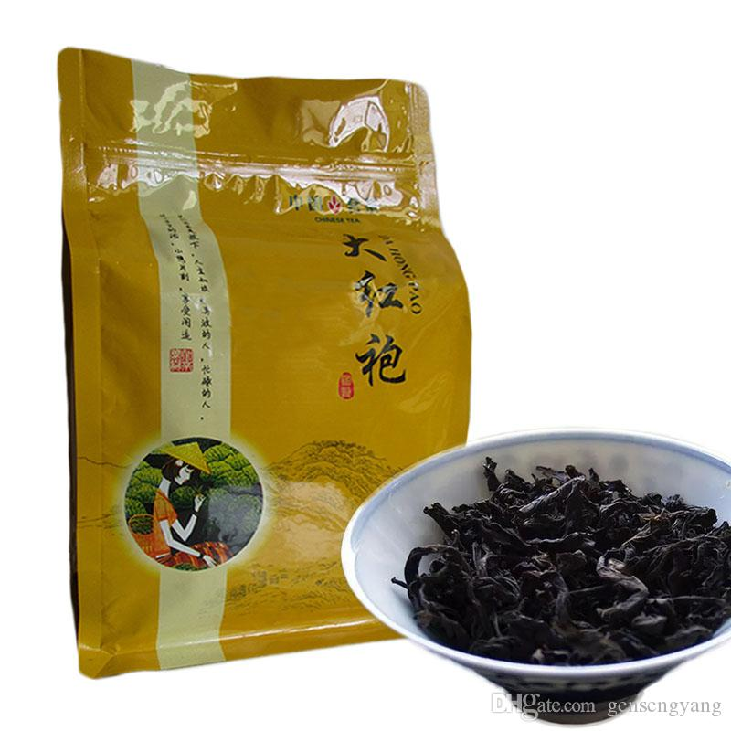 250g preto orgânico Chinese Tea Top Grade Da Hong Pao Big Red Robe Chá Oolong Red Health Care New Cozido Chá Verde Food Factory Direct Vendas